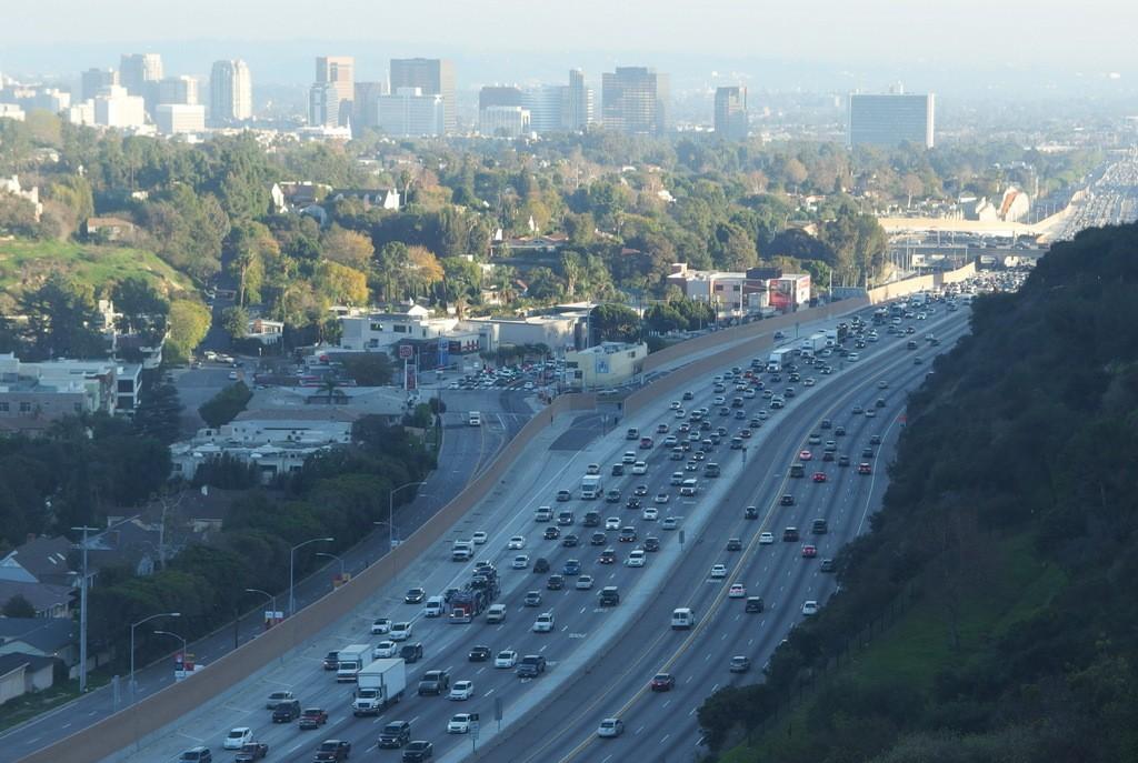Panorama Los Angeles w drodze powrotnej by Dorota Kuneck