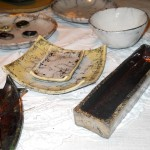 naczynia wykonane w technice raku wyk. Dorota Kunecka