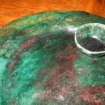 talerz i miseczka - w technice raku wyk. Dorota Kunecka